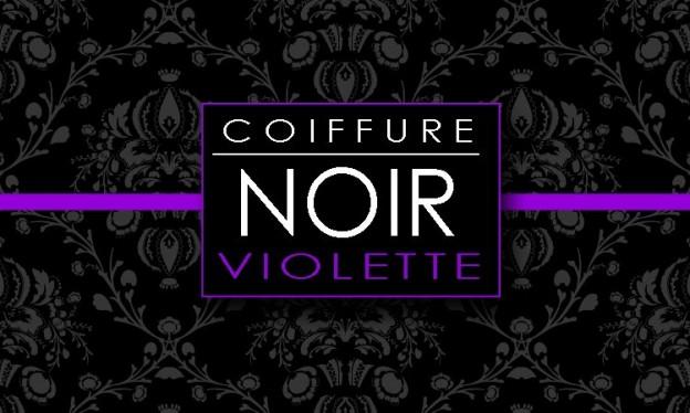 logo coiffure noir violette